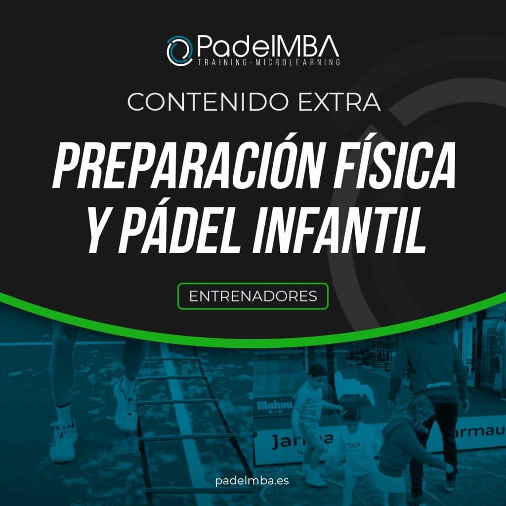 PadelMBA - portada del curso de prepración física y pádel infantil para entrenadores de pádel